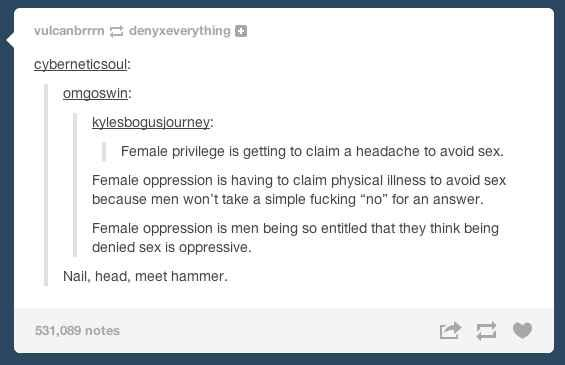 """On """"female privilege"""": 