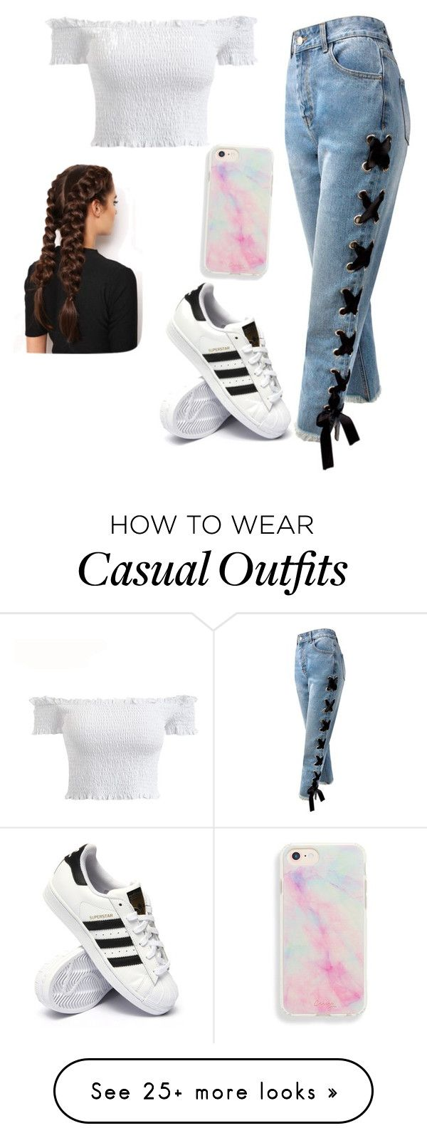 """""""Casual Weekend Oufit"""" by aliceeem6 on Polyvore featuring Sans Souci, adidas and LullaBellz"""