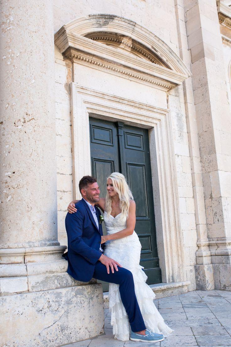 This gorgeous wedding took place in 2017 at the Elegant private terrace in Croatia. #destinationwedding #croatia #seaviewwedding #coupleshoot