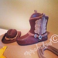 Fondant cowboy boot and hat