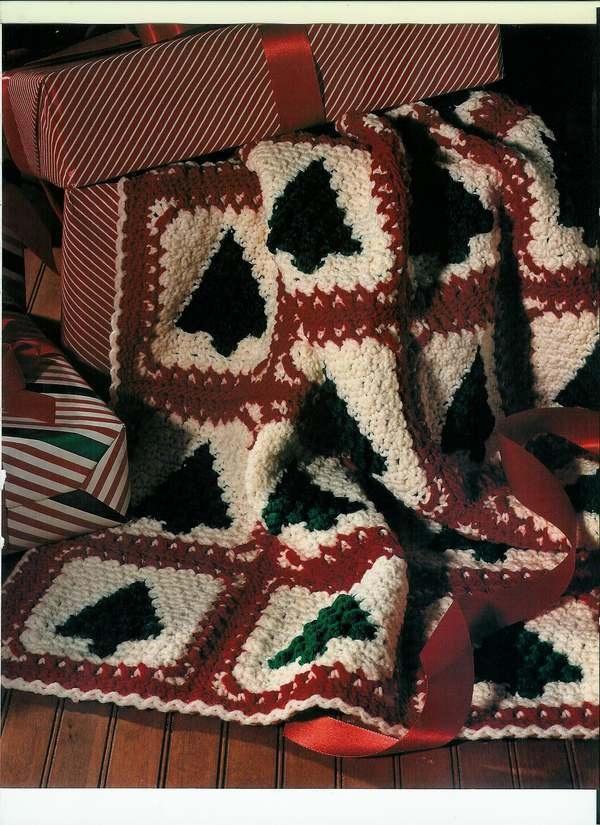 Christmas Trees Afghan Crochet Christmas Crochet