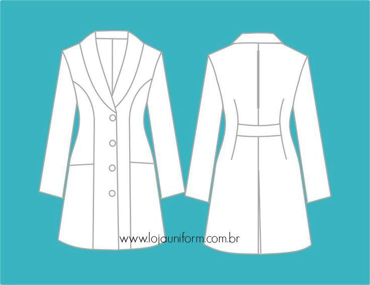 Jaleco Gabriela    Viste nosso site: lojauniform.com.br/