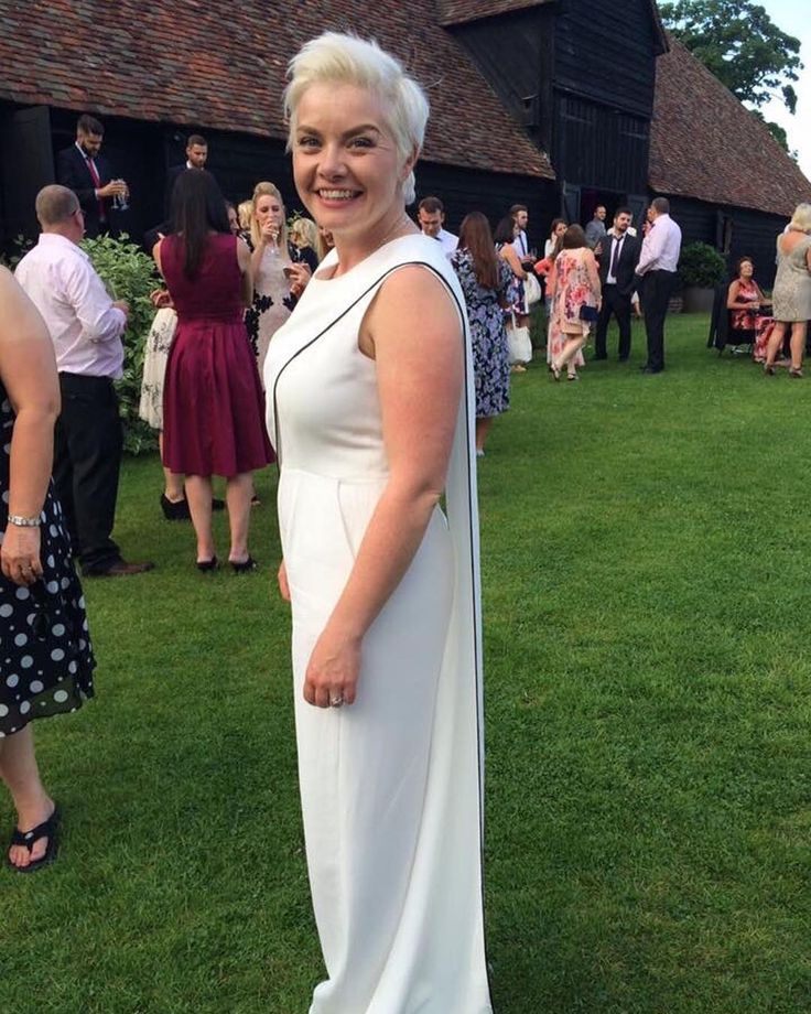A shout out to our gay brides for gay pride! Here's the gorgeous smiley Sally in her 'Bouilly' jumpsuit! Shop the full range of bridal jumpsuits and separates now at http://houseofollichon.co.uk/shop #pride #samesexmarriage #bridal jumpsuit