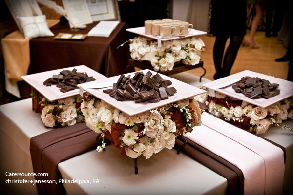 Chocolate square floral buffet