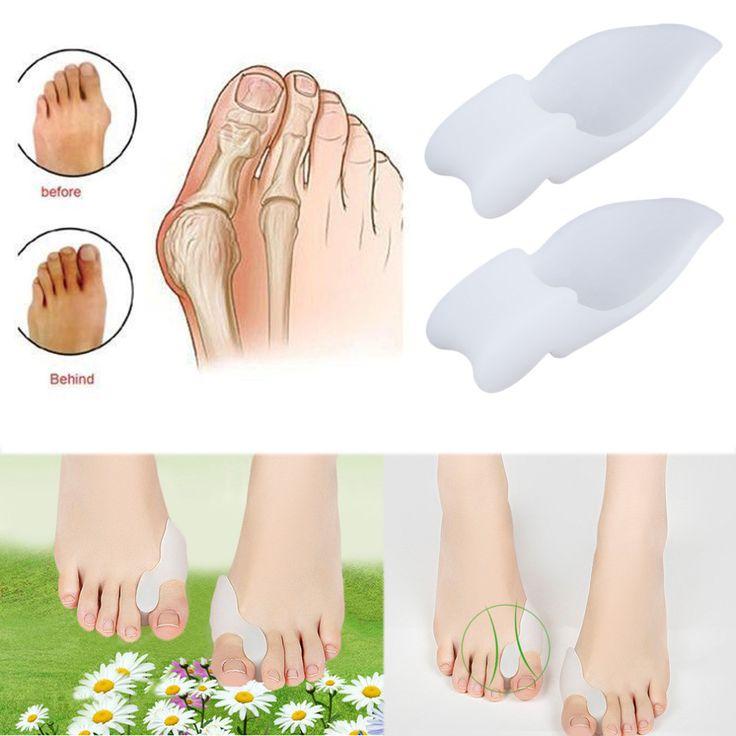 2pcs Silicone Gel Foot Pad Stretch Corrector Alignt Toe Bone Insole