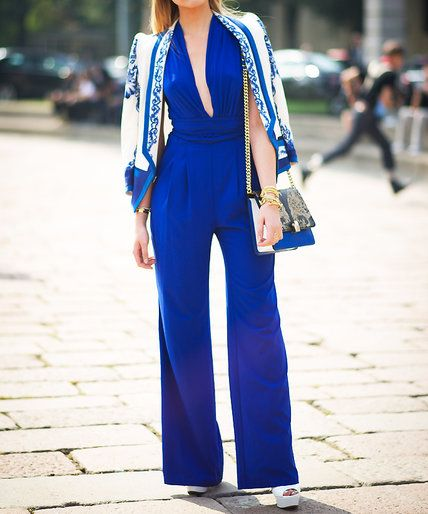 6 Fresh New Ways to Wear a Jumpsuit - Stick to a color scheme - from InStyle.com