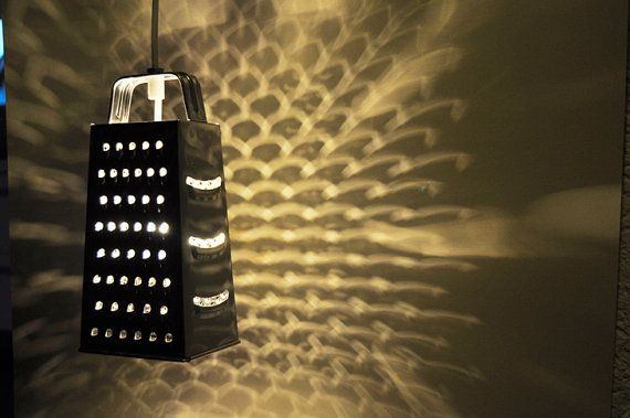 Make a grate light like this one.: Hanging Lights, Lamps Shades, Lights Fixtures, Night Lights, Lamps Lights, Cool Ideas, Pendants Lights, Sweet Home, Lights Ideas