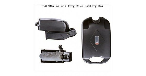 For Electric Bike E-Bike 18650 Lithium Battery Holder Case 36V 48V Battery Box