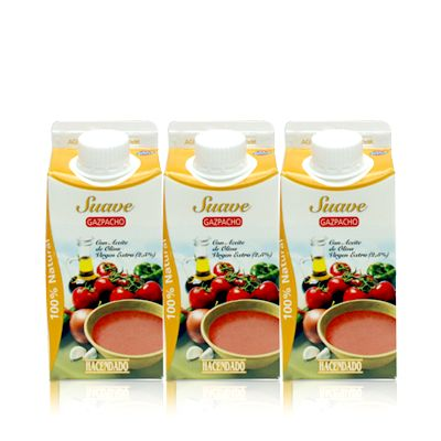 gazpacho suave hacendado - entero (330 ml), 4pp