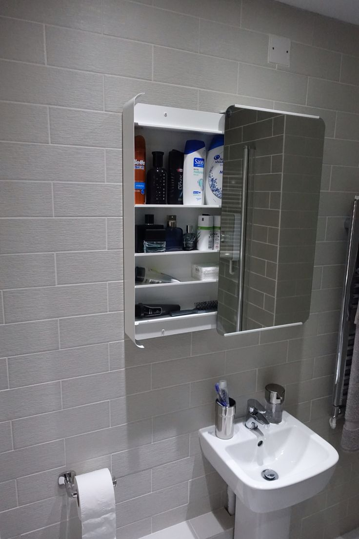 The Bathroom Cabinet Was Purchased From Ikea Brickan Mirror Cabinet It 39 S A Great Design For