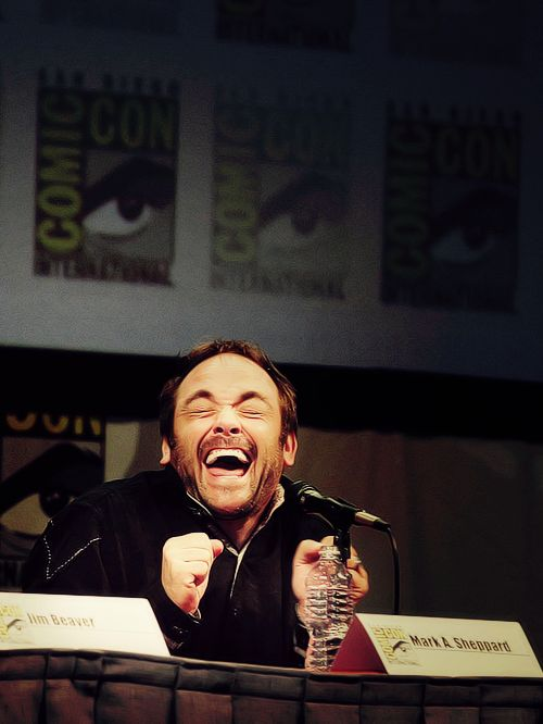 I love this picture of him so much.  Bless you mark Sheppard