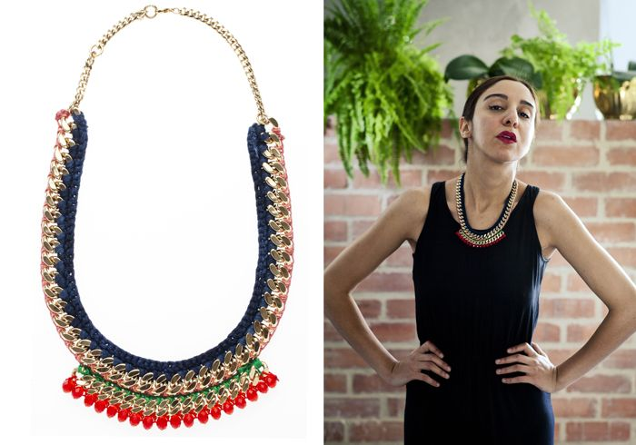 "Henriette Botha ""Nomatemba"" necklace from The Fall Collection (photo credit: Henriette Botha) www.inspiredluxe.com #inspiredluxe #jewelry #henriettebotha #fashion #southafrica #handmade #necklace #ethnic"