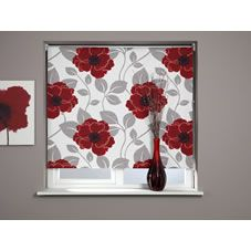 Papavero Designer Black Out Roller Blind Red 180cm