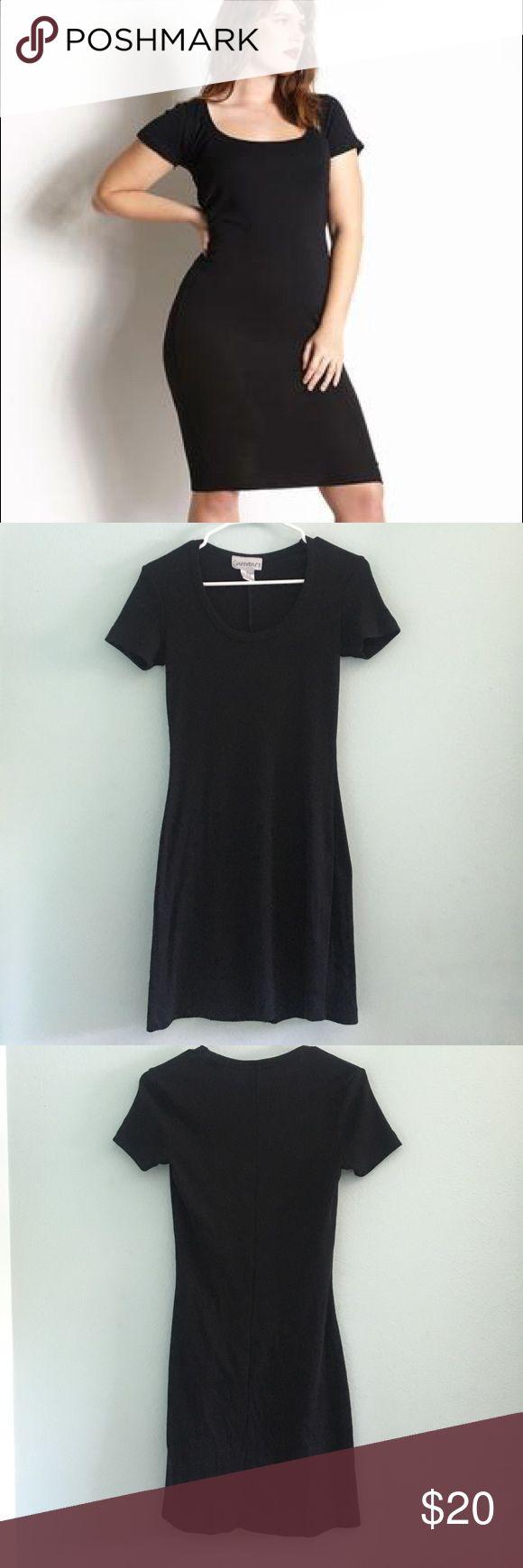Vintage • Black ribbed scoop neck dress Black vintage ribbed dress. Scoop neck. Size S. Brand is Currants. Vintage Dresses Mini