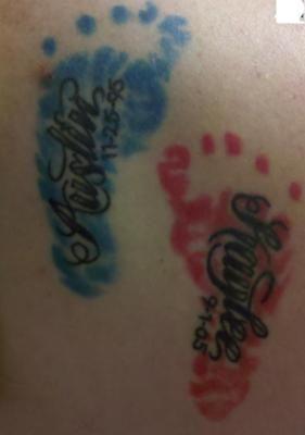 kids name tattoos idea.
