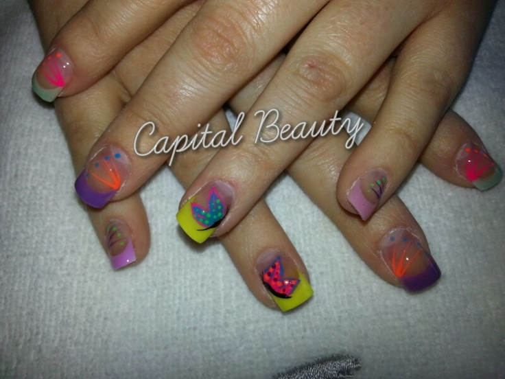 Holiday nails by Beverley Floyd at Capital Beauty