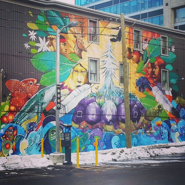 Graffiti in Kitchener, Waterloo ON Aboriginal Artwork