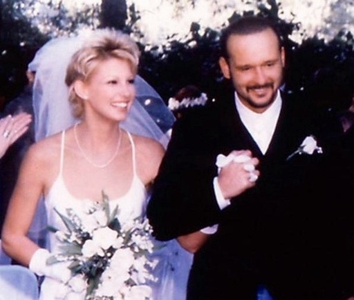 Tim McGraw and Faith Hill wedding day