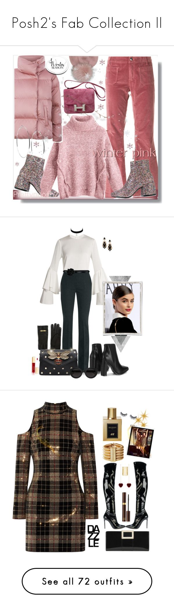"""""""Posh2's Fab Collection ll"""" by prettynposh2 ❤ liked on Polyvore featuring Inverni, MM6 Maison Margiela, Hermès, The Seafarer, Weekend Max Mara, GUESS, Winter, Galvan, MaxMara and Moschino"""