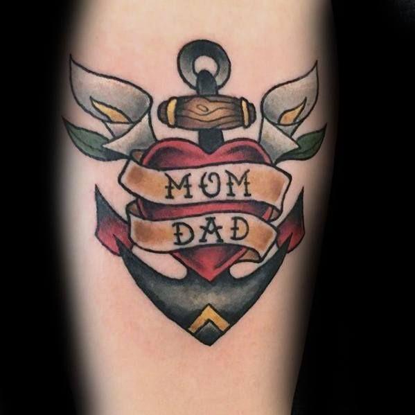 40 Traditional Mom Tattoo Designs For Men Memorial Ideas Mom