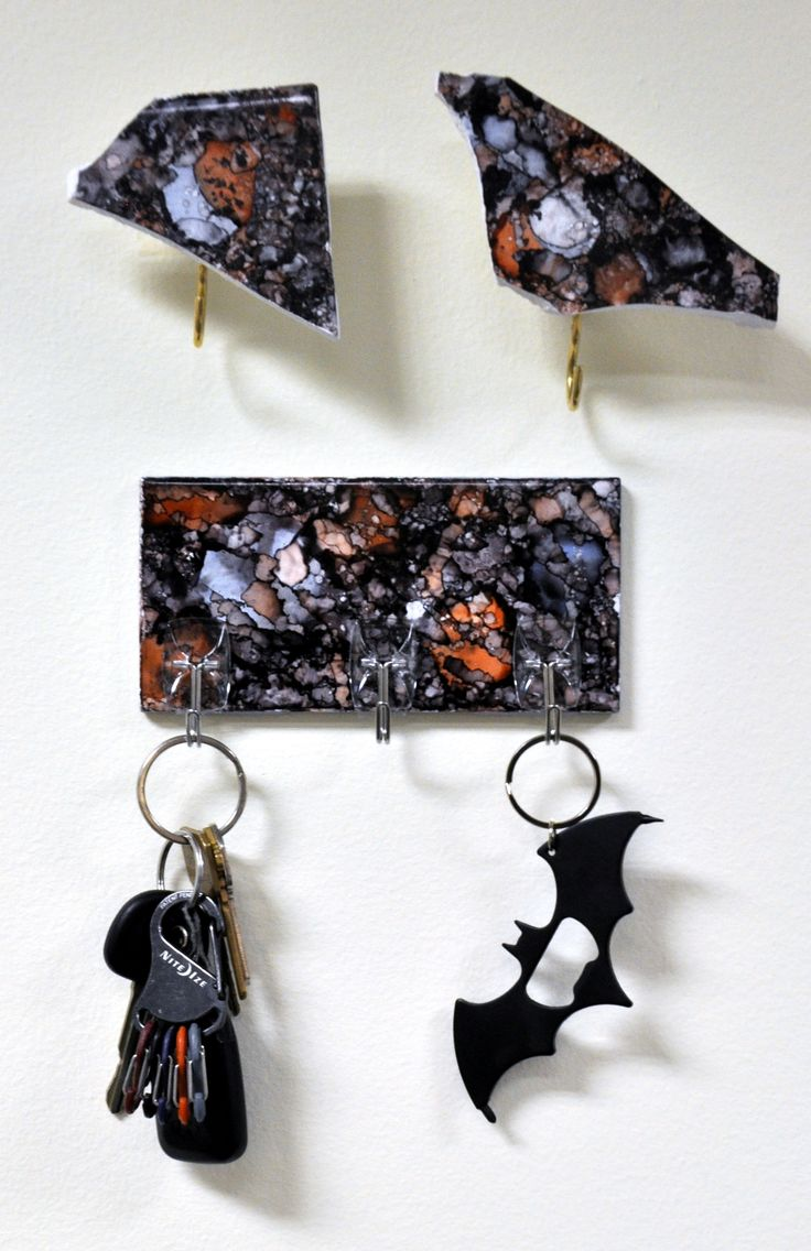 Alcohol Ink Key Hook - Think Crafts by CreateForLess