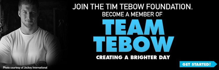 The Tim Tebow Foundation exists to bring faith, hope and love to those needing a brighter day in their darkest hour of need.