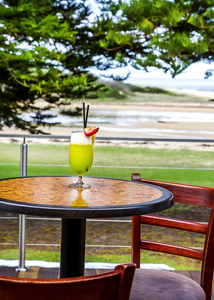 Enjoy a Splice cocktail on our Deck over looking the amazing view. Mixed with Midori, Malibu & Pineapple Juice topped with Cream your taste buds will thank you.