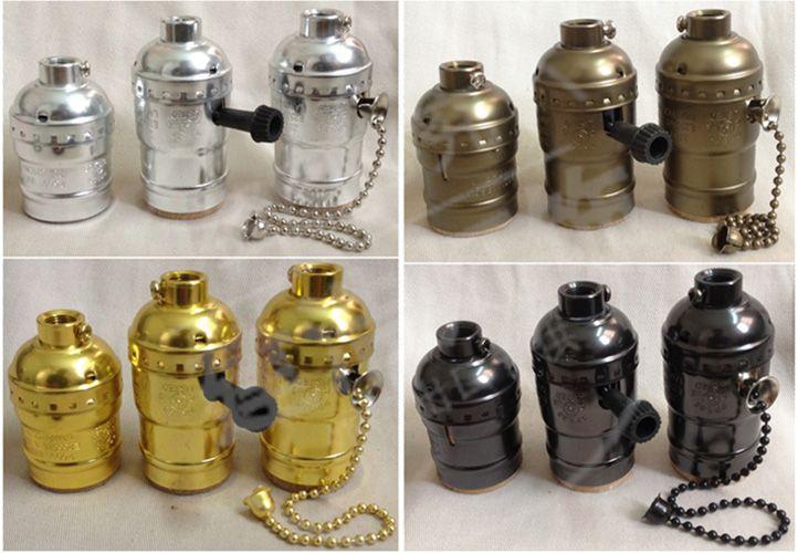 1 pz Vintage Scegliere Edison Portalampada Luce Del Pendente E27 Socket UL/110 V/220 V Base Della Lampada