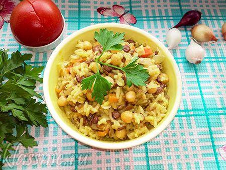 Рис с чечевицей, овощами и нутом или вегетарианский плов | Классные вегетарианские рецепты