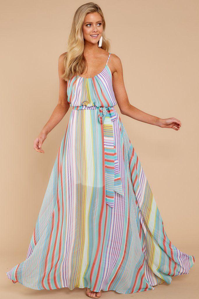 9bea719ed295 Striped maxi dress for destination wedding