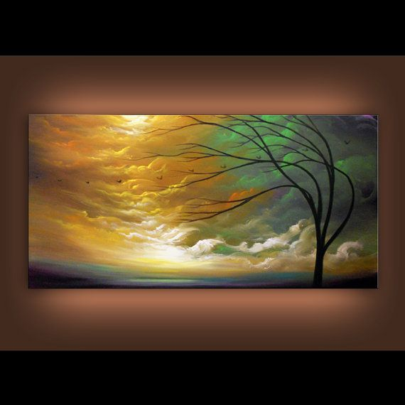art painting abstract landscape original ART painting by mattsart, $375.00