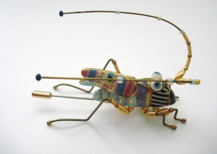 CYNTHIA CHUANG/ERH-PING TSAI CRICKET BROOCH (Cynthia Chuang and her husband, Erh-Ping Tsai, have graduate degrees in sculpture from the Parsons School of Design and they make the most amazingly bizarre pieces)