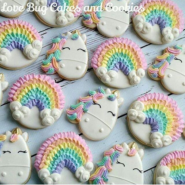 Unicorns and rainbow cookies