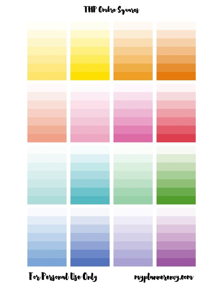 "Free STUDIO PDF print and cut  files --Printable Ombre Lined Squares --fantastic for ombre crafts and no need to drag yourself to the DIY store to ""acquire"" paint chips any more!"