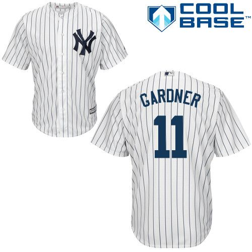 pretty nice a7a4a 8b764 Majestic Brett Gardner Authentic Youth Jersey - MLB New York ...