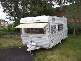 pull behind camper old - Google Search