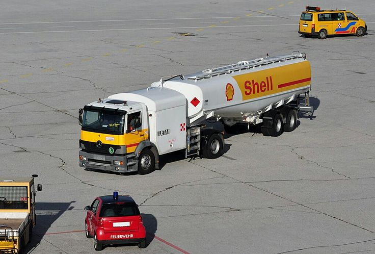 Mercedes Benz Shell Aviation Fuel Truck, Salzburg Airport