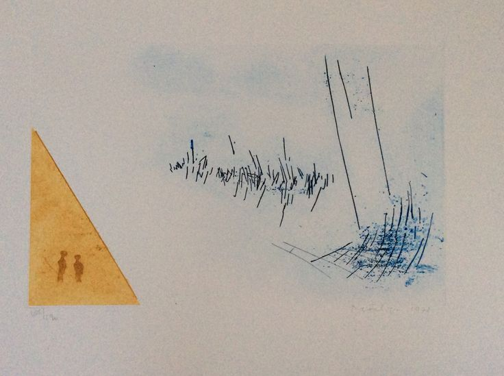 Jan Montyn Litho 'Gebied van ons bestaan II' (Prent 190) Kleurenets Grafiek Veiling €75
