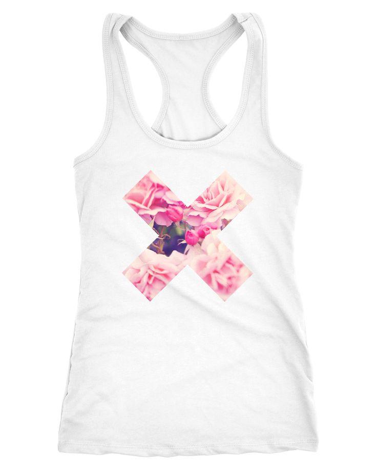 Damen Tank-TopX Aufdruck Pustblume Ananas Galaxy Blumen Rosen Flower Weltall Palmen Neverless®