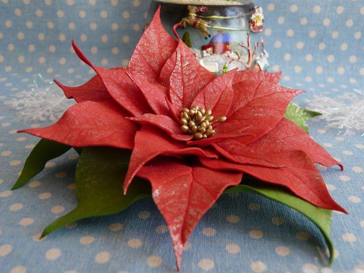 Мастер класс ''Пуансеттия из фоамирана. Изысканный новогодний декор'' 14 декабря (среда) в 15.00