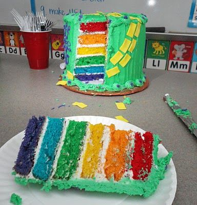 St patricks day: Cakes Wizards, Birthday Stuff, Rainbow Cakes, Dr. Oz, Rainbows Cakes, Wizards Of Oz Classroom Ideas, Rainbows Cupcakes, Parties Cakes, Birthday Cakes