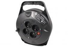 Enrouleur de câble 10m avec 4 multi-prises et thermo-fusible