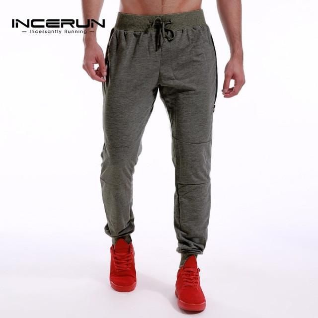 INCERUN Men's Fitness Workout Pants Mens Brand Clothes Tracksuit Bottoms Casual Joggers Male Sweatpants Gyms Clothing No Pockets
