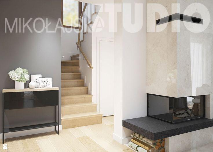 klatka schodowa-projekt wnętrza - zdjęcie od MIKOŁAJSKAstudio - Hol / Przedpokój - Styl Nowoczesny - MIKOŁAJSKAstudio