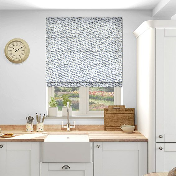 Blue Flower French Blue Roman Blind Green Roller Blinds Blinds Blue Roller Blinds