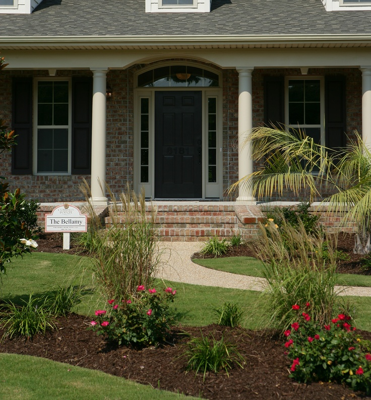 Elegant And Colorful Landscaping Really Make The Curb Eal Of Logan Homes Entryway Ideasfront Yardscurb Ealloganexteriorfront Gardens