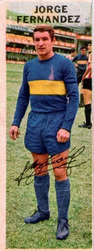Jorge Fernandez of Boca Juniors in 1968.