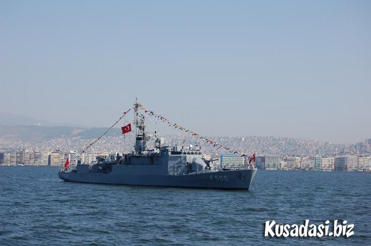 Ship in Izmir Bay.