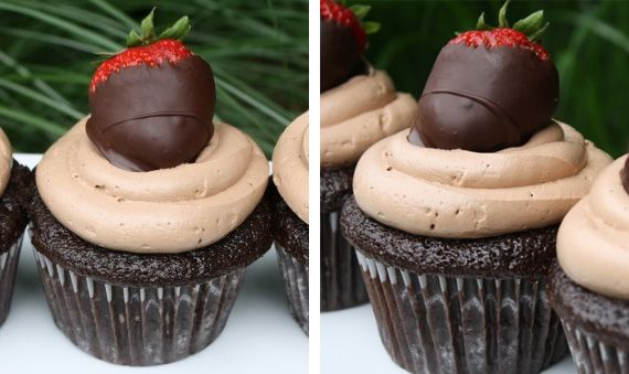 Chocolate covered strawberry cupcakes: Cupcakes De, Cupcakes W Strawberries, Chocolate Cupcakes, Chocolate Strawberries, Chocolate Strawberry Cupcakes, Cup Cake, Valentine Cupcakes, Cupcakes Chocolate