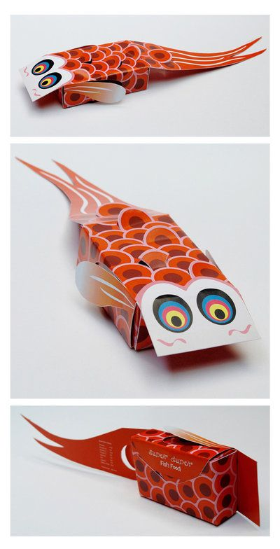 pinterest.com/fra411 #packaging -  Cute packaging for Fish food!